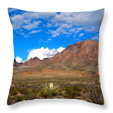 The Chisos Mountains Big Bend Texas Throw Pillow by Gregory G Dimijian MD