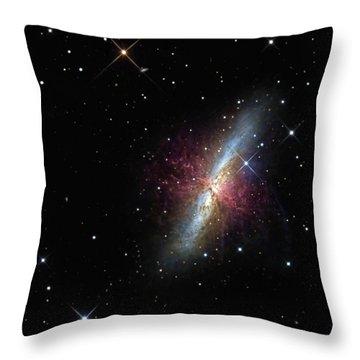 The Cigar Galaxy Throw Pillow