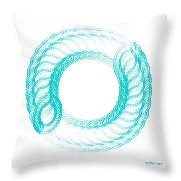 The Circle II Throw Pillow by Tatjana Popovska