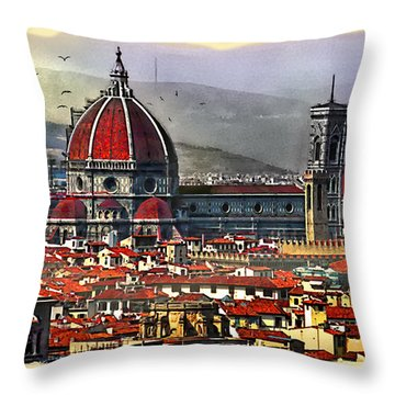 The City Of Florence Throw Pillow