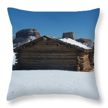 The City Slickers Cabin Throw Pillow by FeVa  Fotos