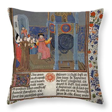 The Clock Of Wisdom, Illuninated Throw Pillow by Science Source
