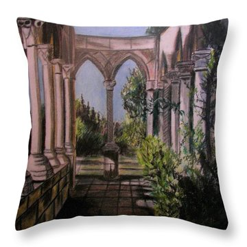 The Cloisters Colonade Throw Pillow