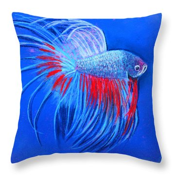 Throw Pillow featuring the mixed media The Closeup by M Diane Bonaparte