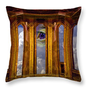 The Clouds And Eye Throw Pillow