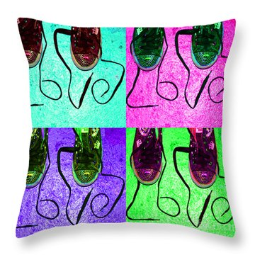 The Color Of Love Throw Pillow by Paul Ward