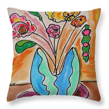 The Colors Of Sherbert Throw Pillow