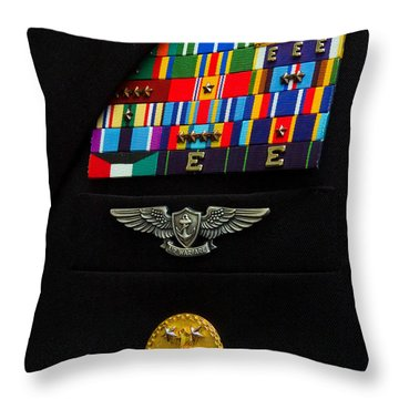The Command Master Chief Badge Throw Pillow by Stocktrek Images