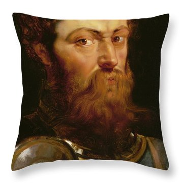 The Commander's Head  Throw Pillow by Peter Paul Rubens