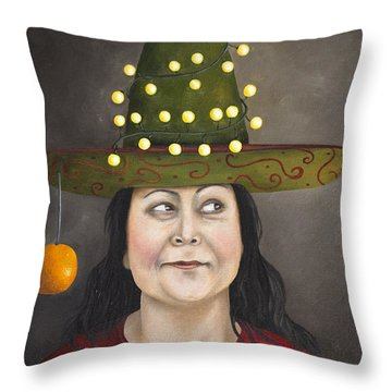 The Competitive Sombrero Couple 1 Throw Pillow by Leah Saulnier The Painting Maniac