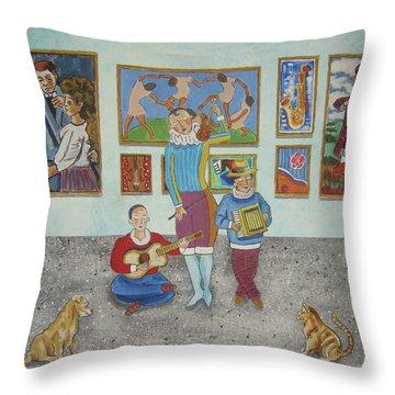 The Concert Throw Pillow by John Keaton