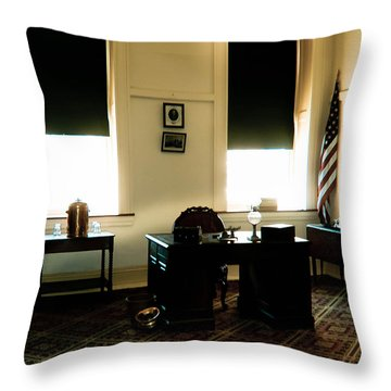The Confederate Diary Throw Pillow by Trish Tritz