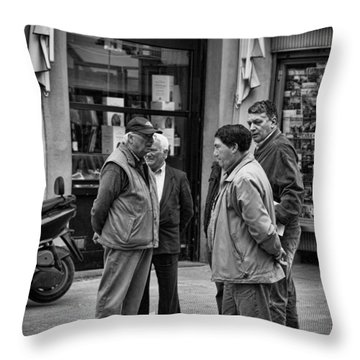 Throw Pillow featuring the photograph The Conference by Hugh Smith