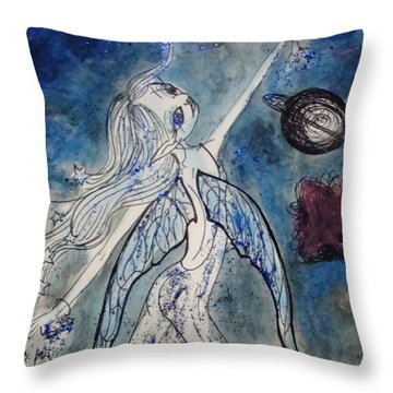 The Consteller Throw Pillow by Koral Garcia