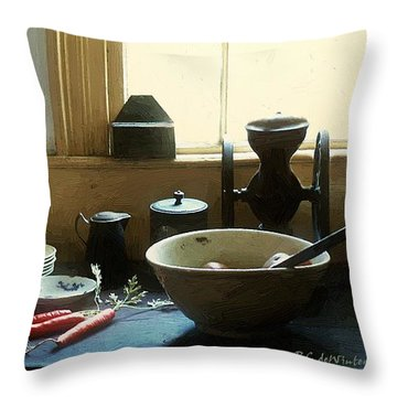 The Cook's Table Throw Pillow by RC deWinter
