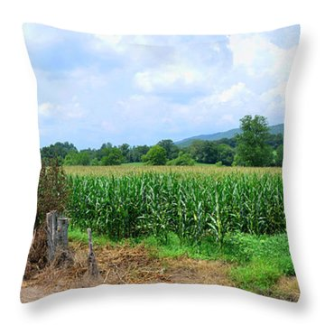 Throw Pillow featuring the photograph The Corn Field by Paul Mashburn