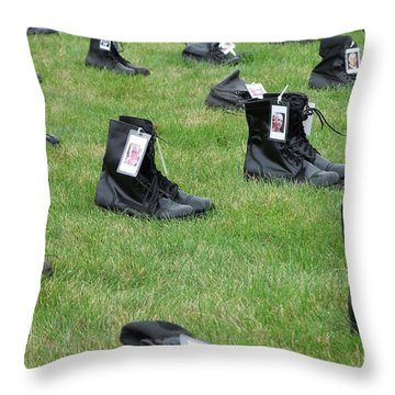 Throw Pillow featuring the photograph The Cost Of War by Chalet Roome-Rigdon
