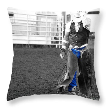 The Cowboy II Throw Pillow by Billie-Jo Miller