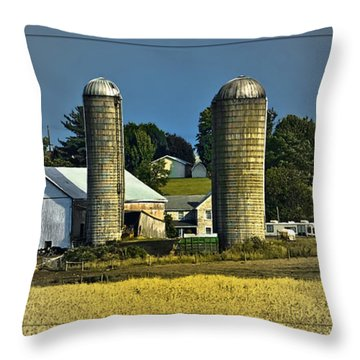 The Cows Have Come Home Throw Pillow by DigiArt Diaries by Vicky B Fuller