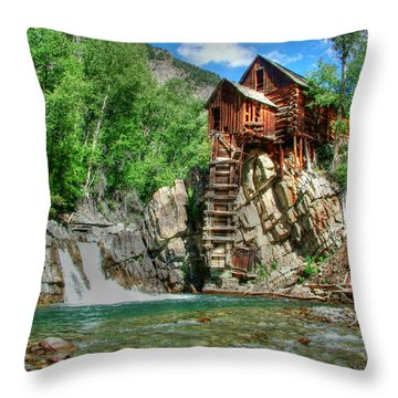 The Crystal Mill 1 Throw Pillow by Ken Smith