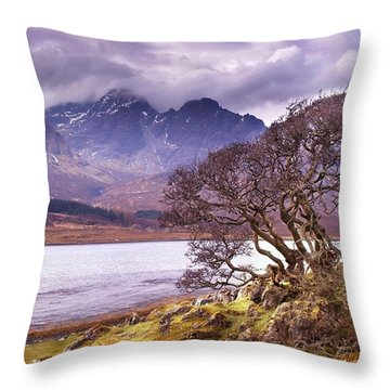 The Cuillins Skye Throw Pillow
