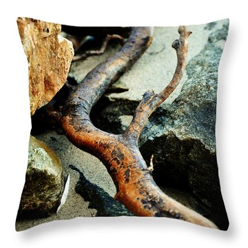 The Curving Branch Throw Pillow