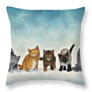 The Cute Ones Throw Pillow by Jutta Maria Pusl