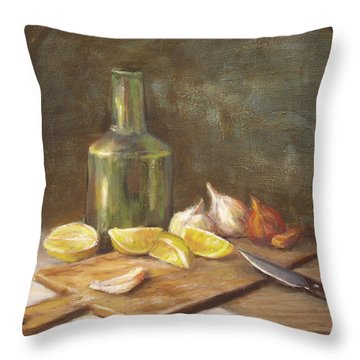 The Cutting Board Throw Pillow