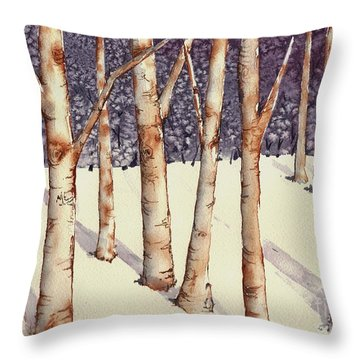 The Darkness Behind Me Throw Pillow by Lynn Babineau