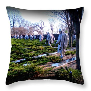 Throw Pillow featuring the photograph The Dc War Memorials Washington  D.c. by Danielle  Parent