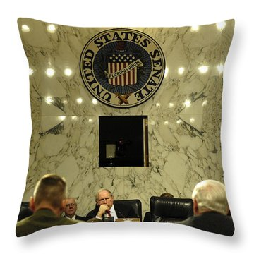 The Department Of Defense Address Throw Pillow by Stocktrek Images