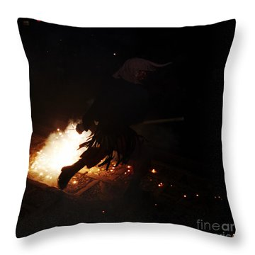 The Devil Of The Stairs Throw Pillow