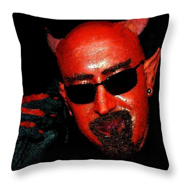 The Devil You Say Throw Pillow by David Lee Thompson