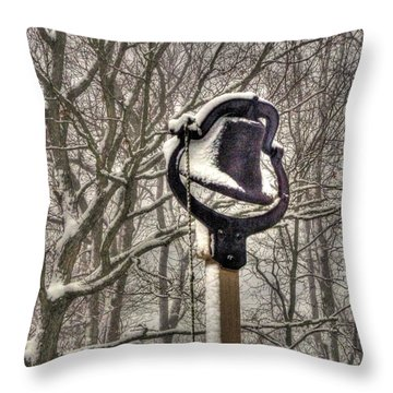 The Dinner Bell Throw Pillow by William Fields