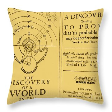 The Discovery Of A World In The Moone Throw Pillow by Science Source