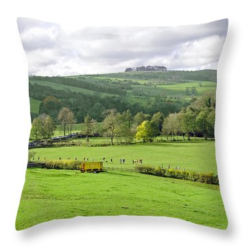 The Dovedale Dash By Thorpe Mill Farm Throw Pillow by Rod Johnson