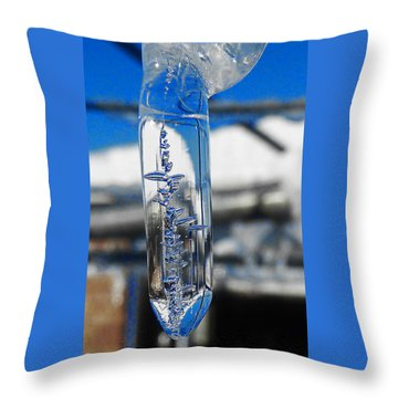 Throw Pillow featuring the photograph The Droop by Steve Taylor