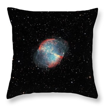 The Dumbbell Nebula Throw Pillow by Rolf Geissinger