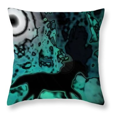 Throw Pillow featuring the photograph The Eclipsed Horse by Jessica Shelton