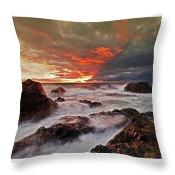 The Edge Of The Storm Throw Pillow