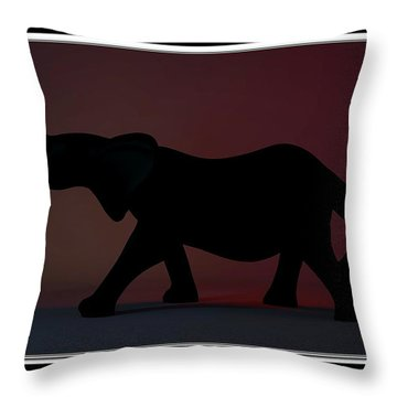 Throw Pillow featuring the digital art The Elephant... by Tim Fillingim