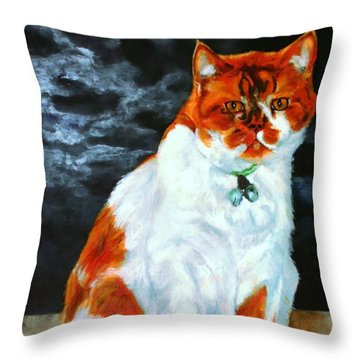 The Emperor Throw Pillow by Jolante Hesse
