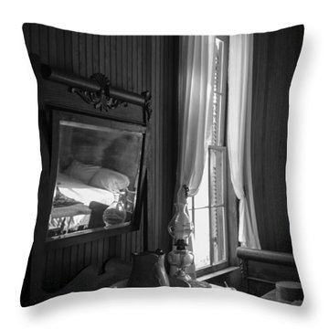 The Empty Bed Throw Pillow by Lynn Palmer