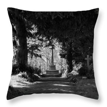 The End Throw Pillow by Brian Roscorla