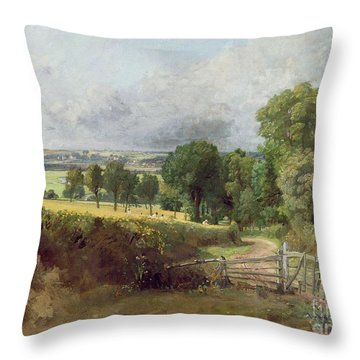 The Entrance To Fen Lane By Constable John Throw Pillow by John Constable