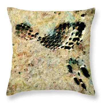 Throw Pillow featuring the digital art The Evolution Of Man by Steve Taylor