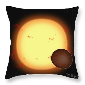 The Extrasolar Planet Hd 209458 B Throw Pillow by Ron Miller