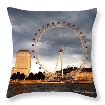 The Eye In The Sky Throw Pillow
