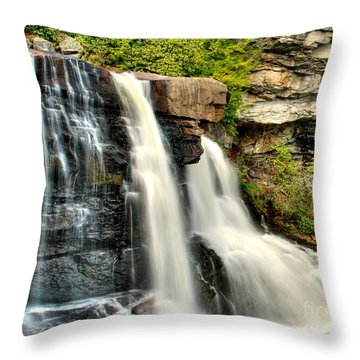Throw Pillow featuring the photograph The Face Of The Falls by Mark Dodd