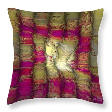 The Face Within Throw Pillow by Deborah Benoit